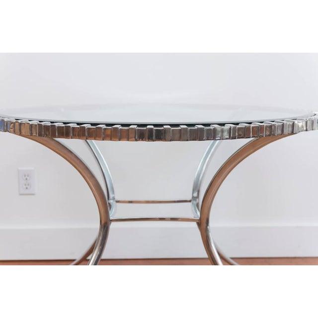 Thinline Polished Aluminum Klismos Table For Sale - Image 4 of 9