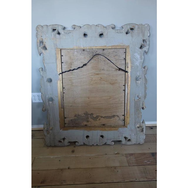 Antique Italian Carved Painted Mirror - Image 3 of 8
