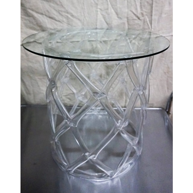 Tony Duquette Style Clear Lucite Ribbon Table - Image 2 of 5