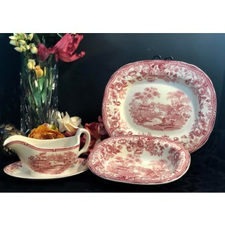 Vintage Royal Staffordshire Red Tonquin Dinnerware - Set of 3 Preview