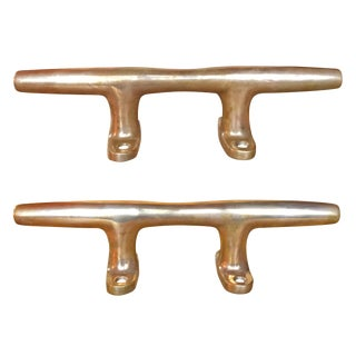 Bronze Mooring Cleats - a Pair For Sale