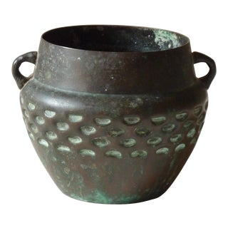 Arts & Crafts Bronze Vase For Sale