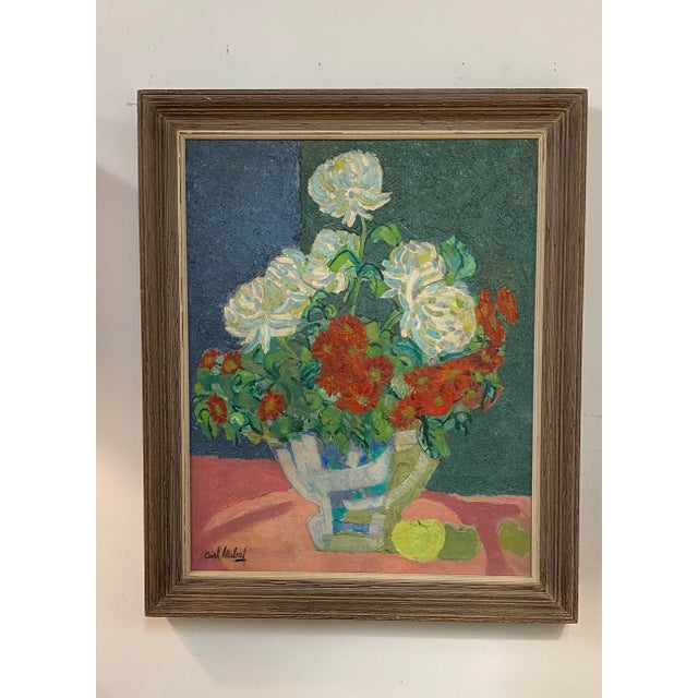 Mid Century Painting Oil on Canvas by Carl Malouf For Sale In New York - Image 6 of 6
