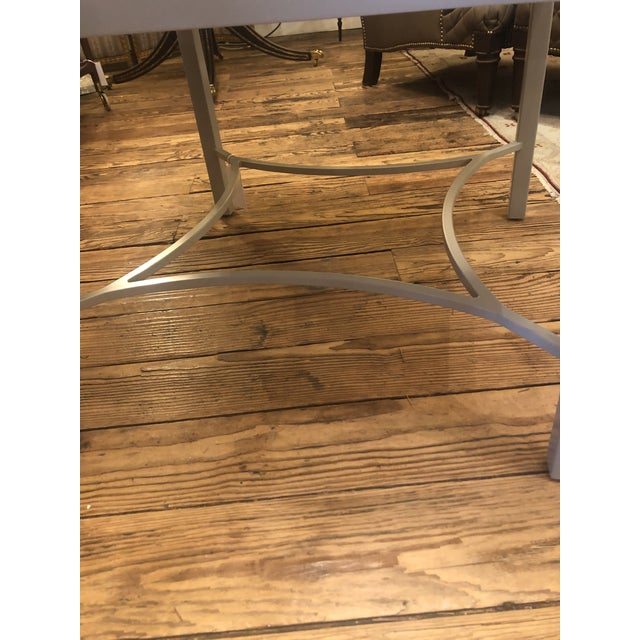 Modern Abalone and Grey Painted Square Cocktail Table For Sale - Image 3 of 10