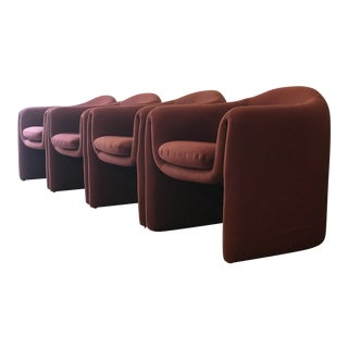 Set of 4 Biomorphic Sculptural Armchairs by Vladimir Kagan for Preview