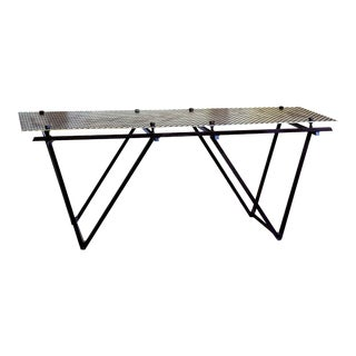 Artisan Made Perforated Metal Modernist Coffee Table Bed Entry Bench Tv Media Stand For Sale
