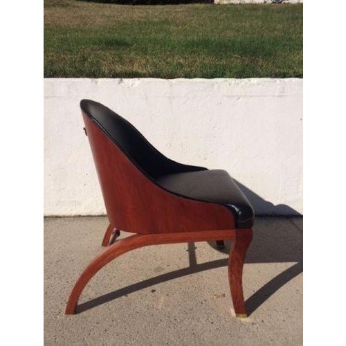 On Hold Mid Century Regency-Style Bentwood Campaign Chair - Image 2 of 6
