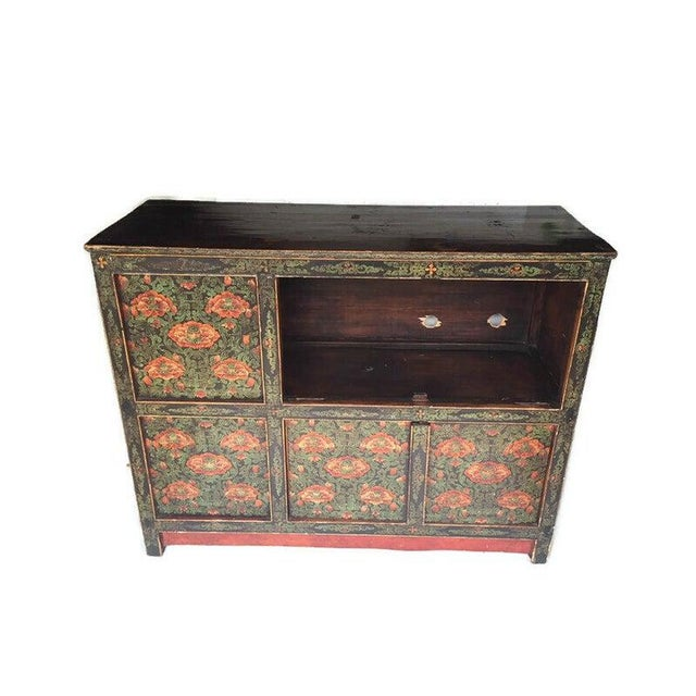 Vintage Chinese Tibetan Cabinet For Sale - Image 11 of 13