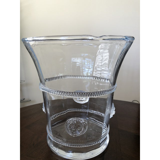 Hand Blown Glass Champagne or Wine Cooler For Sale - Image 4 of 5