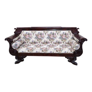 Empire Style Mahogany Sofa For Sale