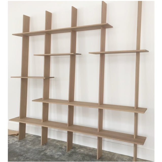 Ozshop 'Angle of Repose' Shelving Unit - Natural For Sale - Image 4 of 4