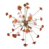 Image of Murano Glass Flowers Chandelier Sputnik For Sale