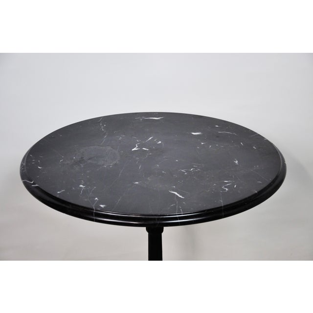 Italian Black Marble Bistro Table For Sale - Image 4 of 13