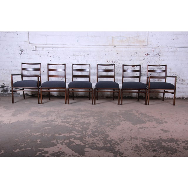 Robsjohn Gibbings for Widdicomb Mid-Century Modern Walnut Dining Set For Sale - Image 10 of 13