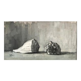 "Rubino Contemporary Framed Still Life ""Lightning Whelk and Horse Conch"" For Sale"