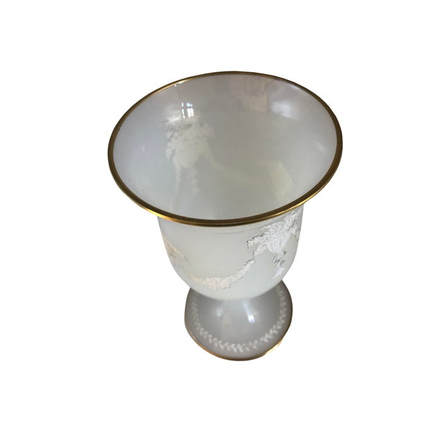 French Clam Broth Opaline Glass Goblet For Sale - Image 3 of 6