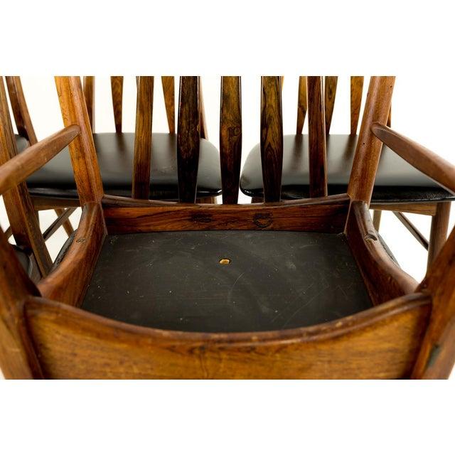 Niels Koefoed Mid-Century Modern Niels Koefoed Hornslet Rosewood Eva Dining Chairs - Set of 6 For Sale - Image 4 of 12