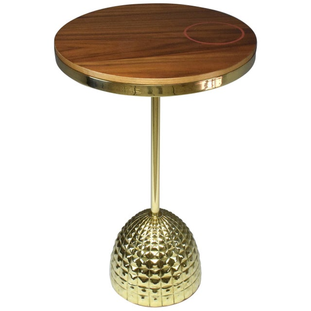 Unio Contemporary Brass Charging Table, Flow Collection For Sale - Image 12 of 12