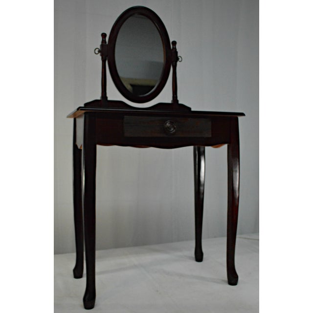 Traditional Cuban Mahogany Vanity For Sale - Image 3 of 10