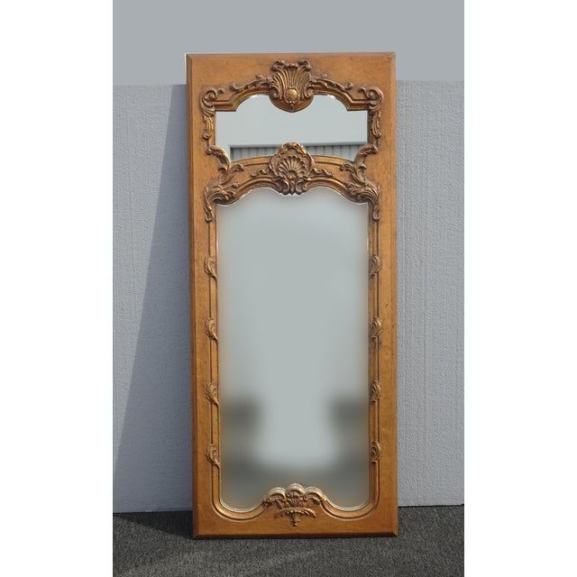1950s Vintage French Provincial Gold Wall Mantle Mirror For Sale - Image 13 of 13