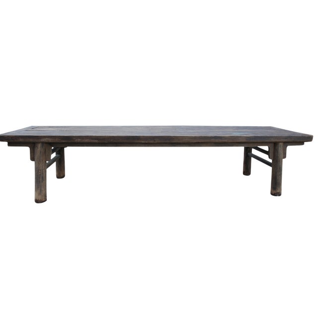 Primitive Rustic Distressed Farmhouse Harvest Dining Work Table For Sale