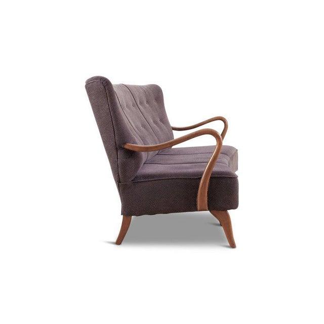 Scandinavian Organic Wingback Sofa For Sale - Image 4 of 10