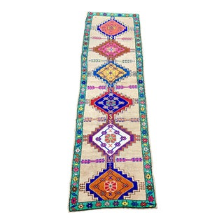 Contemporary Oushak Runner Rug - 2′11″ × 10′5″ For Sale