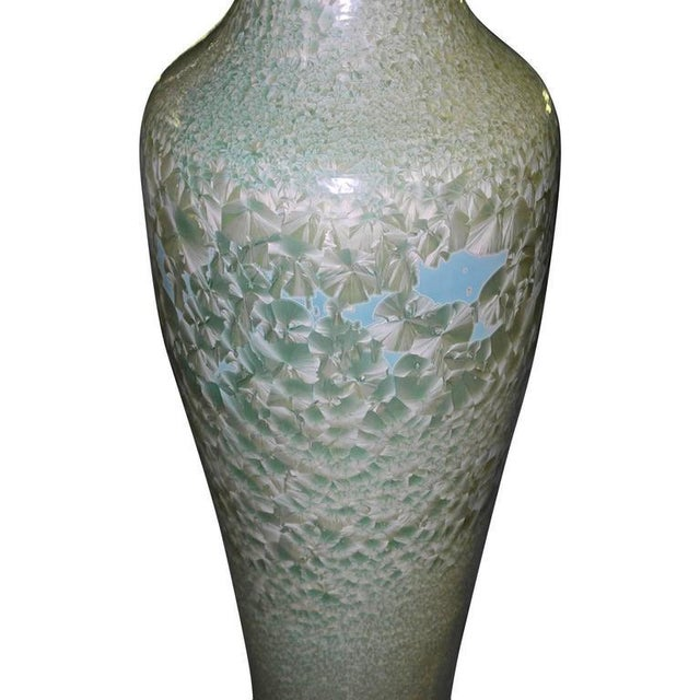 Set of Three Celadon Porcelain Floor Vases For Sale In Los Angeles - Image 6 of 8