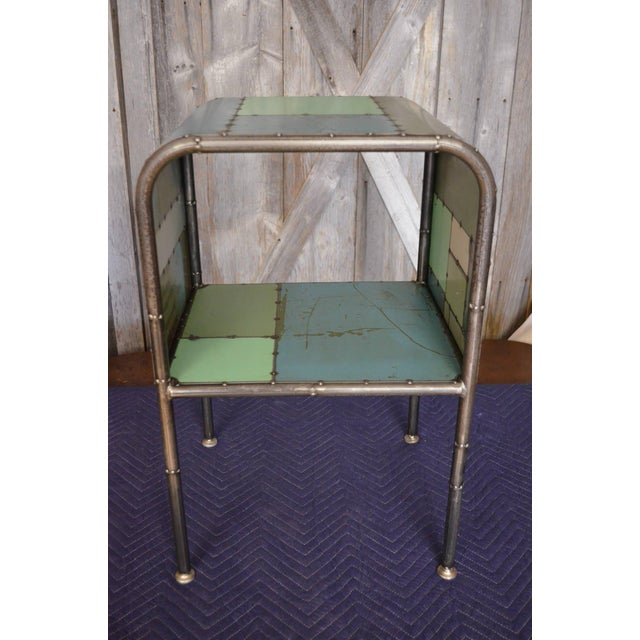 Locally-Sourced Reclaimed Steel Bedside Table - Image 7 of 10
