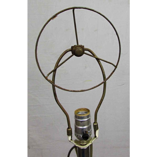 Industrial Standing Chrome Floor Lamp For Sale - Image 3 of 7
