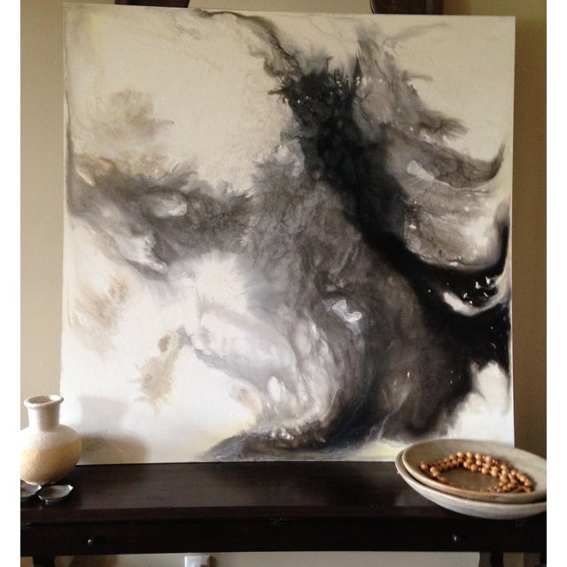 """Chelsea Fly """"Can't You See the Fire"""" Painting - Image 3 of 3"""
