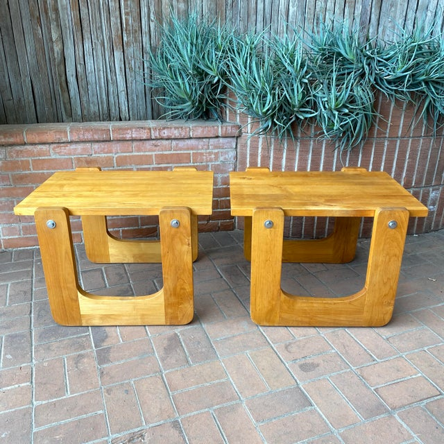 1970s Studio Craft Pine Side Tables - a Pair For Sale In Phoenix - Image 6 of 8