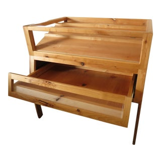 Knotty Alder and Copper Display Case For Sale