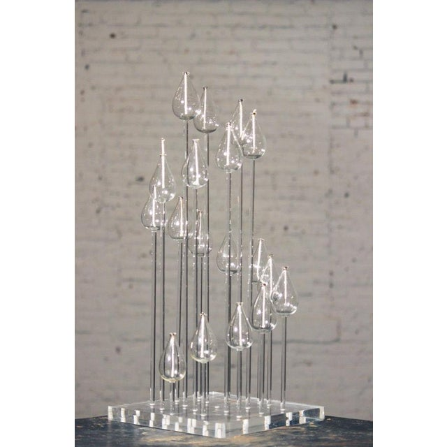 Mid-Century Glass & Lucite Oil Candelabra - Image 9 of 9