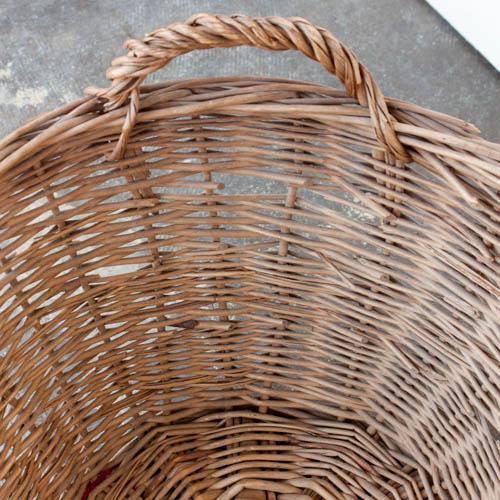 Oval Vintage French Laundry Basket - Image 8 of 8