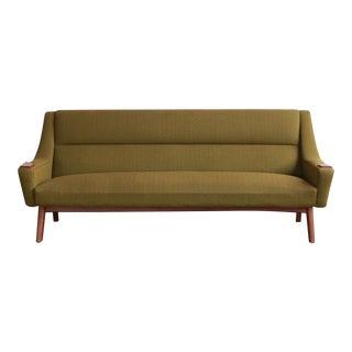 Vintage Mid Century Danish Teak Paw Sofa For Sale