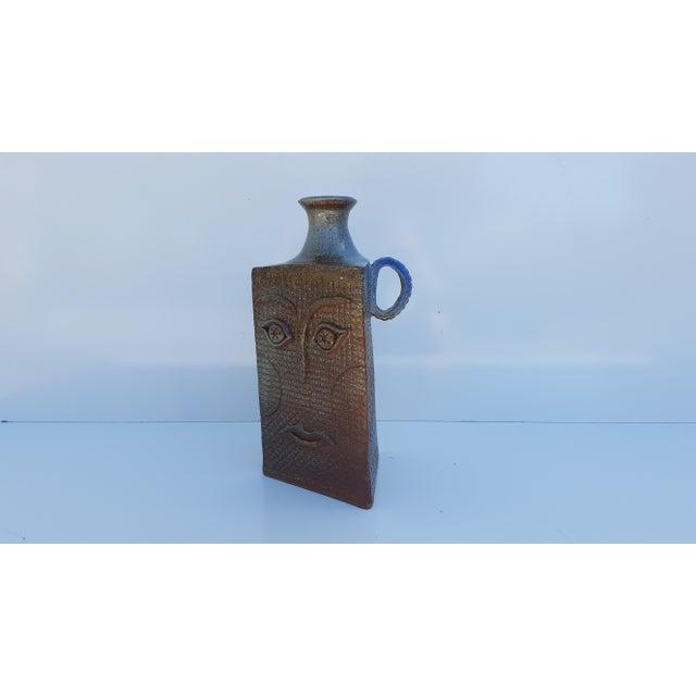 Abstract Vintage Art Handmade Sculptural Studio Pottery Vase For Sale - Image 3 of 11