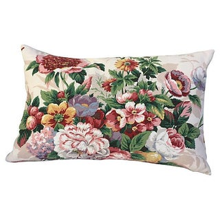 Summer Floral Bouquet Pillow For Sale