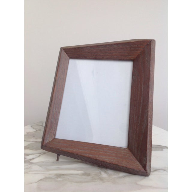 Contemporary 1940's Cerused Oak Modern Picture Frames - a Pair For Sale - Image 3 of 5