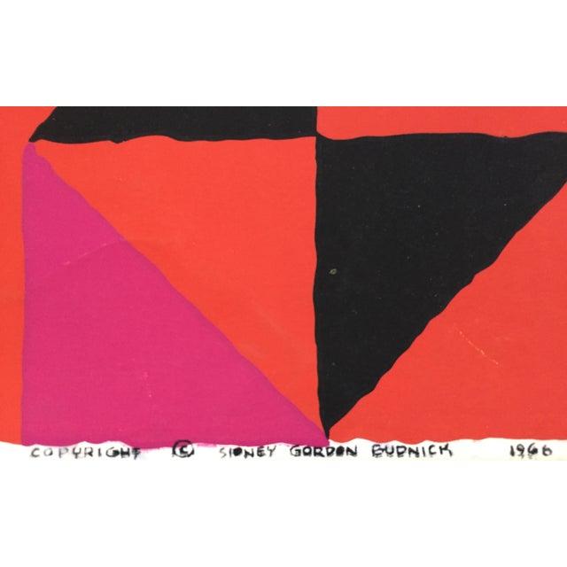"Paint 1960s Op-Art Sidney Budnick Silkscreen ""Forest Fire"" For Sale - Image 7 of 10"