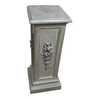 Mac Sculpture Gray Wash Fructuous Pedestal For Sale