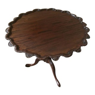Traditional Mahogany Pie Crust Tilt-Top Table For Sale
