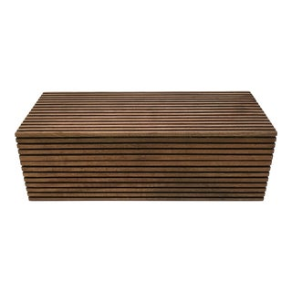 Contemporary Weathered Wood Box For Sale