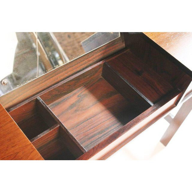 Glass Drylund Rosewood Vanity For Sale - Image 7 of 11