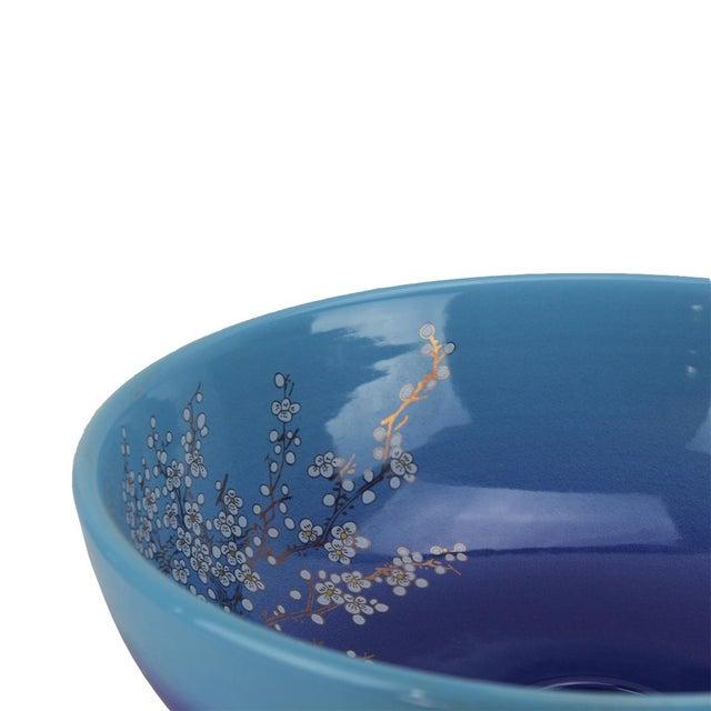 Pasargad DC Modern Navy Blue Motif Sink Bowl For Sale - Image 4 of 6