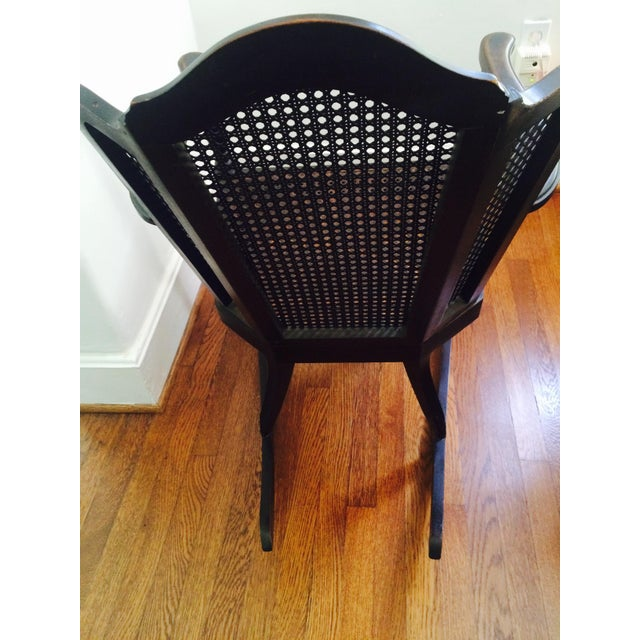 Vintage Wood & Cane Rocking Chair - Image 5 of 8
