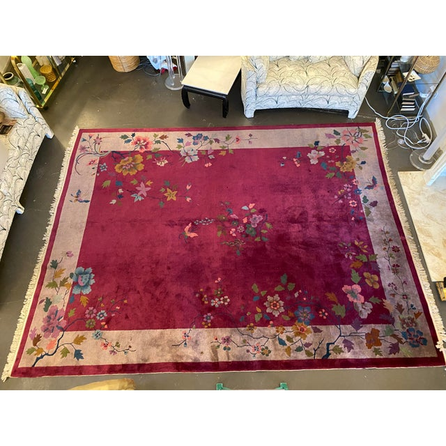 """Chinese Art Deco Rug 139"""" X 107"""" For Sale - Image 10 of 10"""