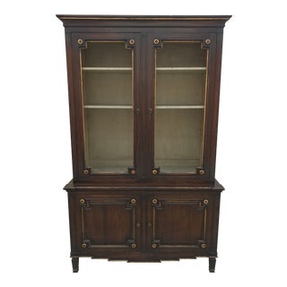 French Empire Style Fruitwood Bookcase / Cabinet For Sale
