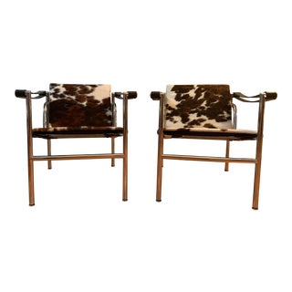 Le Corbusier Lc1 Cowhide Chairs - a Pair For Sale