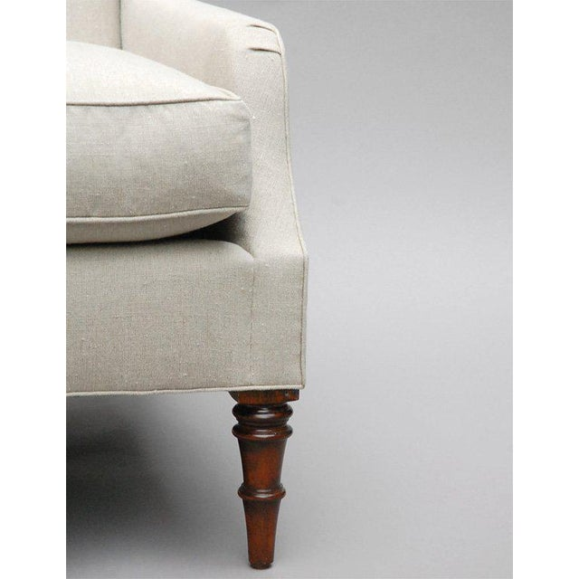 "Not Yet Made - Made To Order ""Selby"" by Lee Stanton Armchair Upholstered in Belgian Linen or Custom Fabric For Sale - Image 5 of 10"